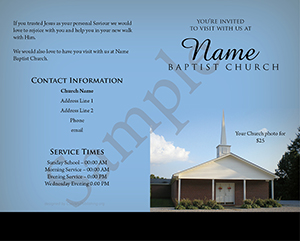 Your Invited Baptist Tract