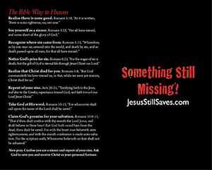 Something Still Missing Baptist Tract