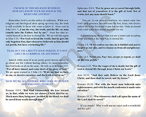 Behold Now is the Day of Salvation Baptist Tract