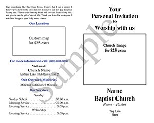 Your Personal Invitation Baptist Tract